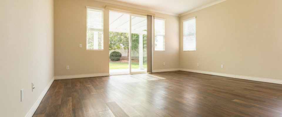 Open space with lovely laminate flooring